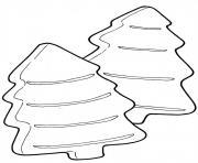 galettes en forme de sapins dessin à colorier