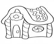 noel gateau maison dessin à colorier