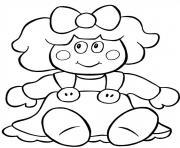 poupee de chiffons noel dessin à colorier