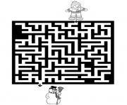 jeux labyrinthe noel 4 dessin à colorier