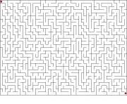jeux labyrinthe difficile dessin à colorier