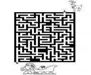 jeux labyrinthe noel 7 dessin à colorier