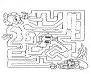 labyrinthe jeux nemo poisson dessin à colorier