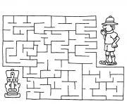 labyrinthe jeux 17 dessin à colorier