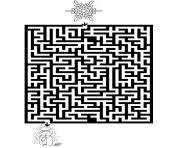 jeux labyrinthe noel 5 dessin à colorier