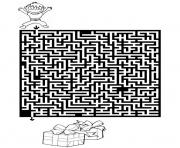 jeux labyrinthe noel 6 dessin à colorier
