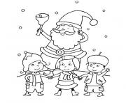Coloriage noel maternelle facile simple