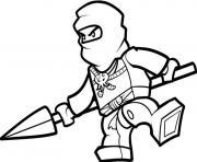 Coloriage ninjago nya ninja 2 dessin