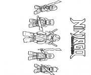 coloriage ninjago 4 ninjas