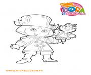 Coloriage dora la pirate