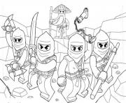 coloriage Lego ninjago lego team colouring pages