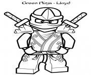 coloriage green ninjago llyod lego