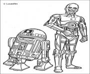 Coloriage star wars r2 d2 et c3PO