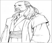 Coloriage star wars Qui Gon Jin