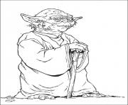 star wars yoda dessin à colorier