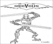 Coloriage star wars grievous