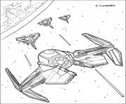 Coloriage galaxie de star wars 7