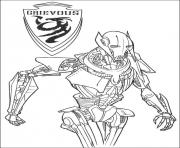 Coloriage star wars 7 grievous