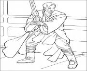 Coloriage star wars sabre 1