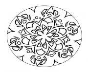Coloriage mandala metal vegetal dessin