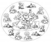 madala famille noel dessin à colorier