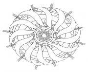 mandala couronne de noel dessin à colorier