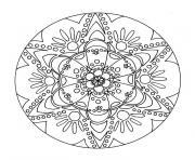mandala noel boule dessin à colorier