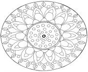 mandala simple noel dessin à colorier