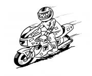 moto de course dessin à colorier