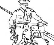 moto police dessin à colorier