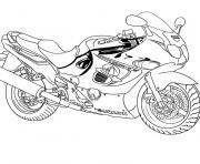 moto suzuki dessin à colorier
