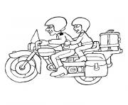 Coloriage tv moto
