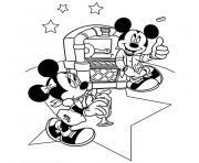 anniversaire mickey dessin à colorier