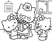 Coloriage hello kitty anniversaire