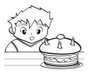 anniversaire 3 ans dessin à colorier