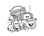 cars anniversaire dessin à colorier