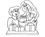 anniversaire pour papa dessin à colorier