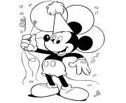 Coloriage Anniversaire Mickey.Coloriage Anniversaire A Imprimer Gratuit Sur Coloriage Info