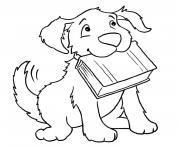 vrai chien dessin à colorier
