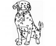 Coloriage chien king charles avec sa couronne dessin - Coloriage dalmatien ...