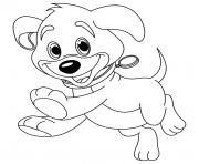 Coloriage chien king charles avec sa couronne dessin
