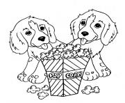 Coloriage chien king charles avec sa couronne dessin