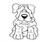 un chien dessin à colorier