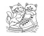 chaton trop mignon dessin à colorier