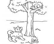 chiot et chaton dessin à colorier