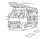 camion pompier dessin à colorier