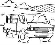 voiture camion dessin à colorier
