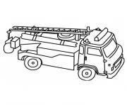 camion de pompier dessin à colorier
