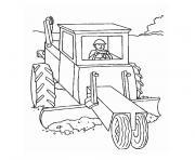 camion tracteur dessin à colorier