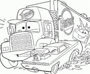 Coloriage camion de cars